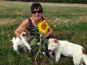 Leigh Walton with Rosie & Martha