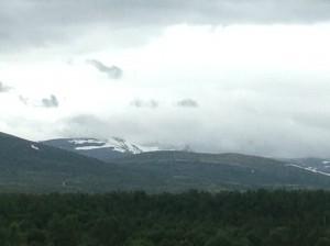 Norway driving through cloud