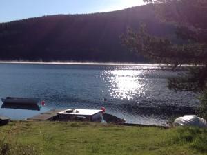 Skabu campsite lake
